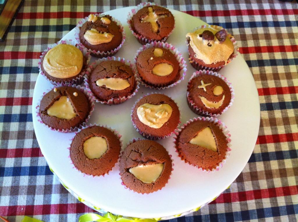 mufinki z masłem orzechowym 2
