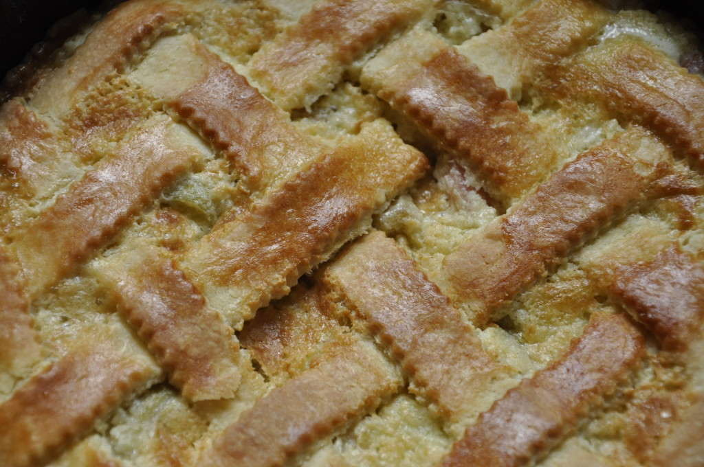 Tarta Alzacka z rabarbarem