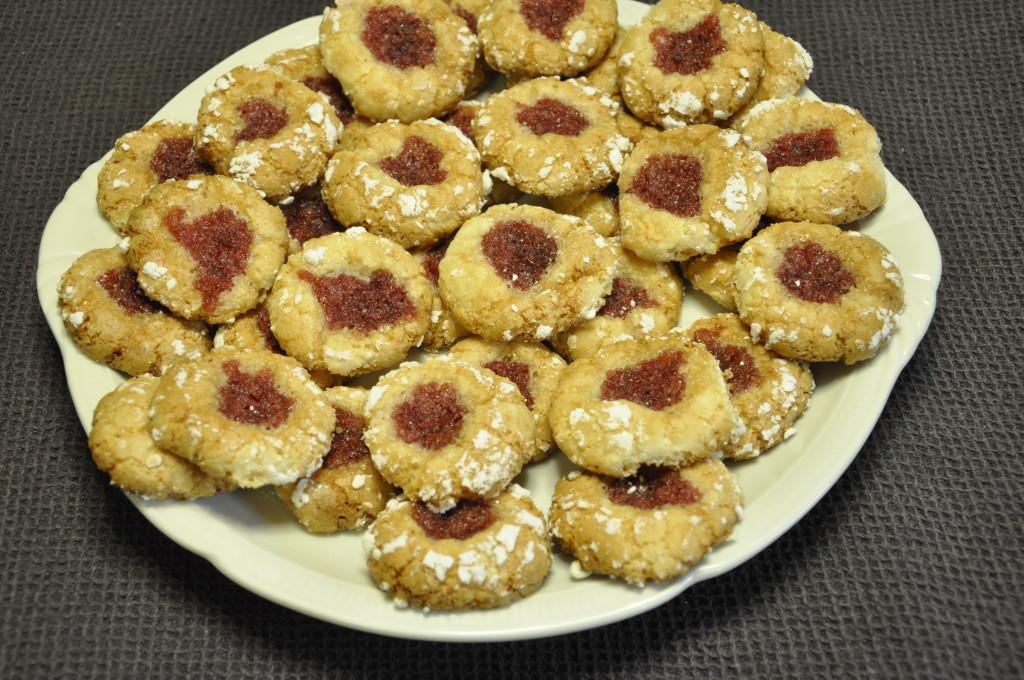 Migdałowe  ciasteczka z konfiturą różaną (4)