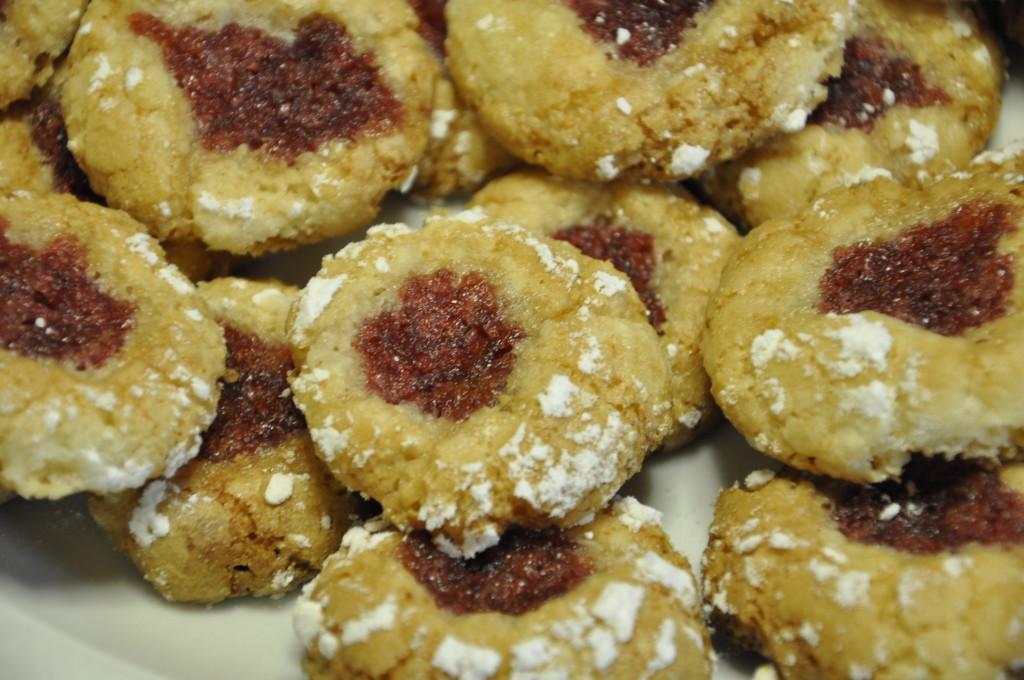 Migdałowe  ciasteczka z konfiturą różaną (5)