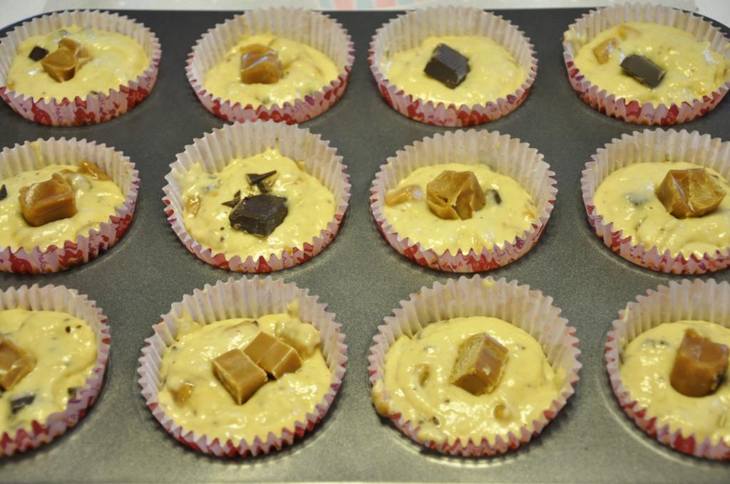 mufinki z krówką i czekoladą 3