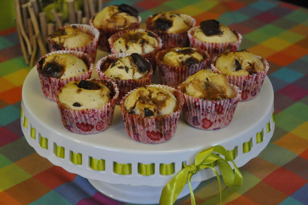 mufinki z krówką i czekoladą 7